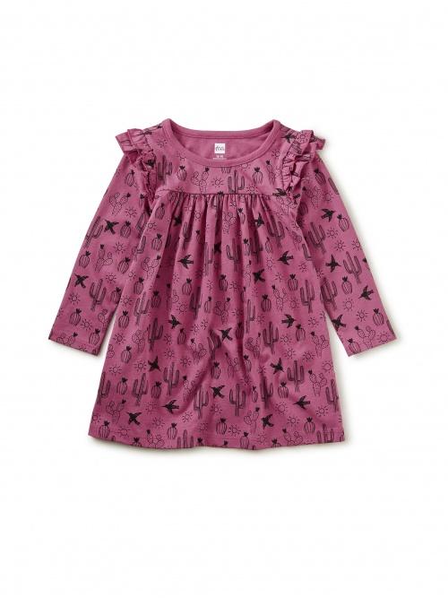 Ruffle Shoulder Baby Dress
