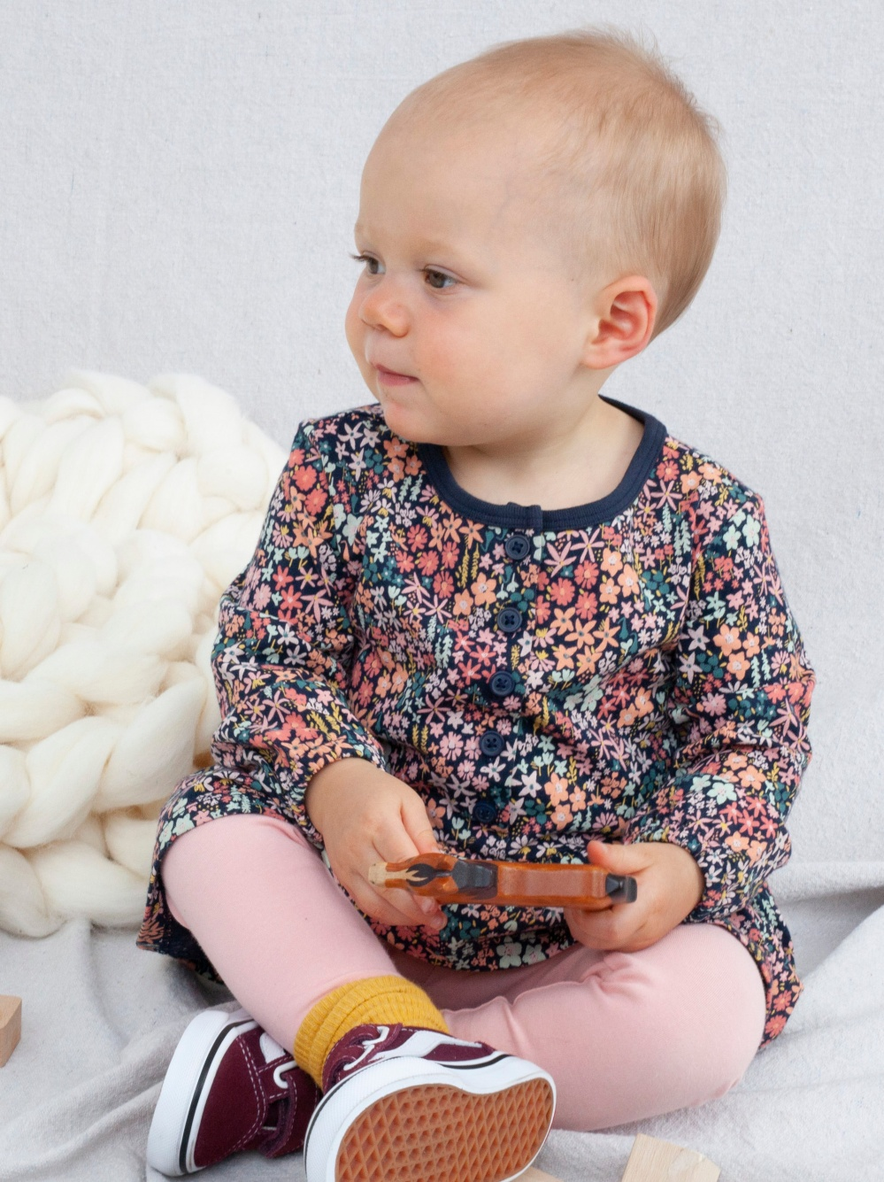 Button Front Baby Dress