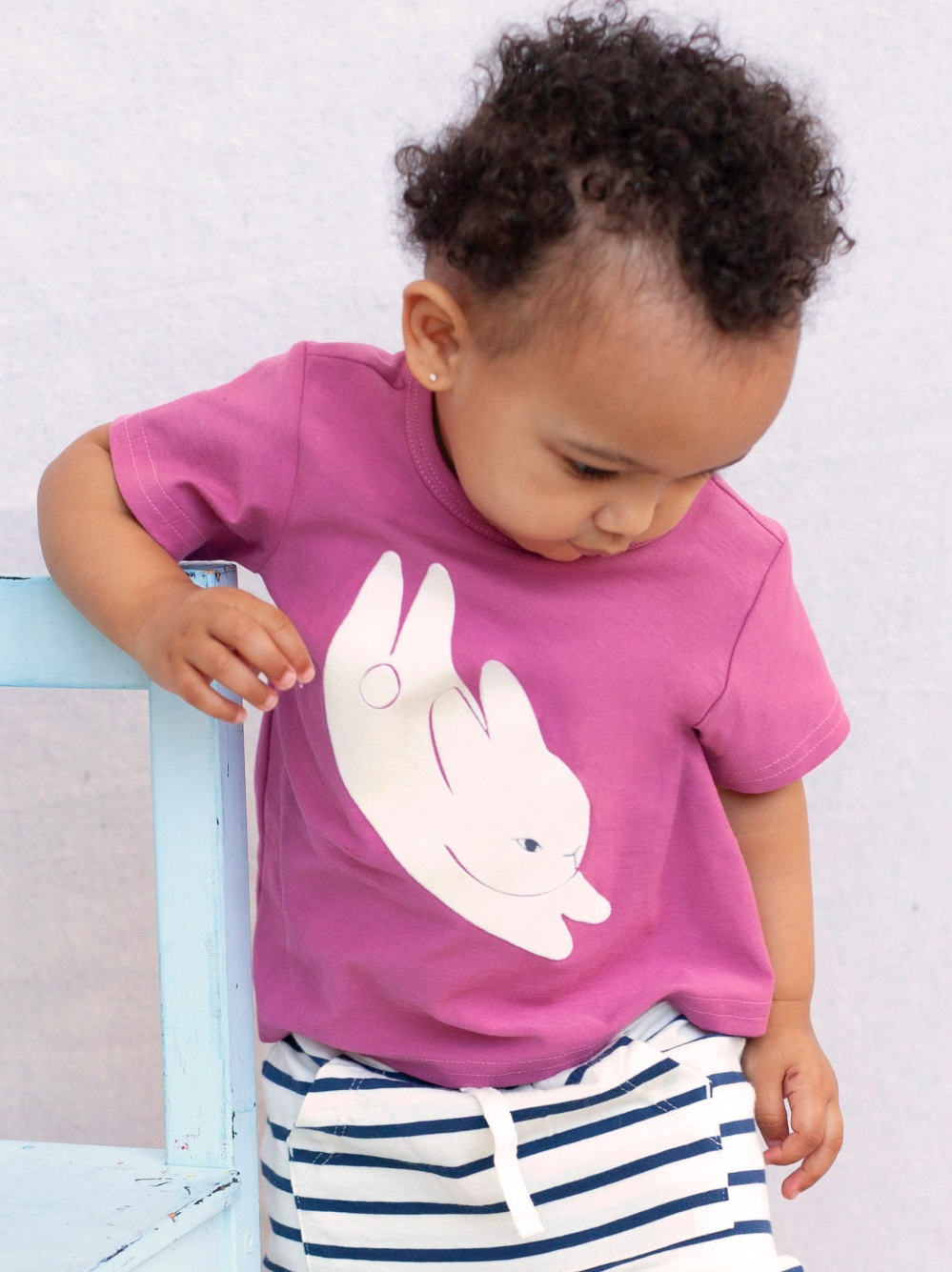 Bitty Bunny Flocked Graphic Tee