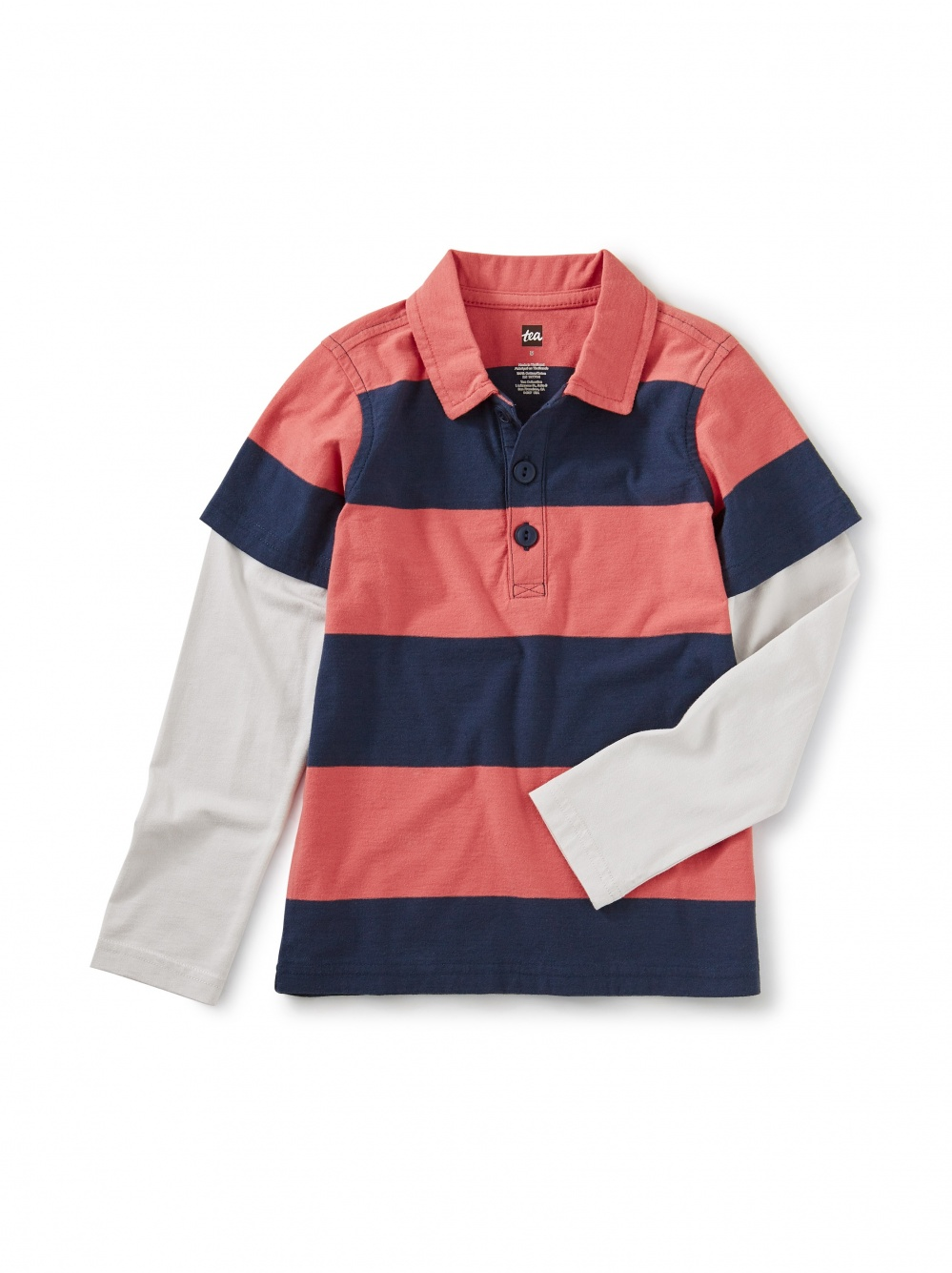 Layered Sleeve Rugby Polo
