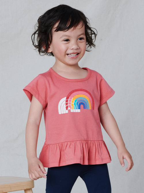 Double Rainbow Peplum Top