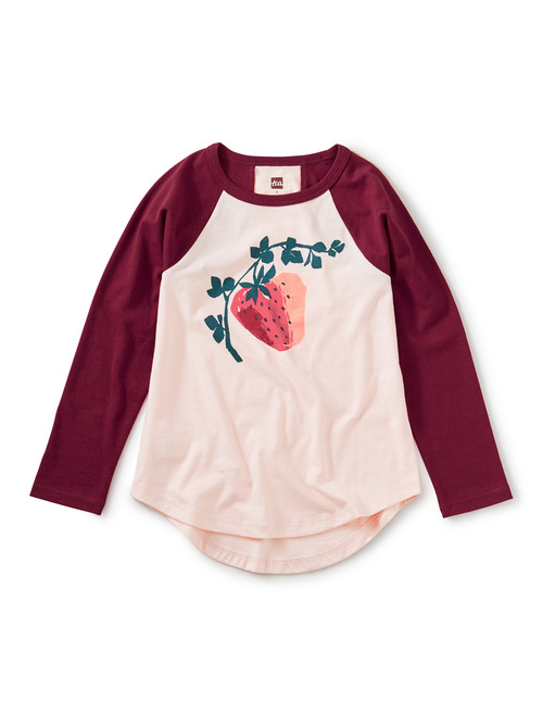 Juicy Strawberry Raglan Graphic Tee