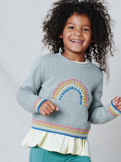 Rainbow Pompom Sweater