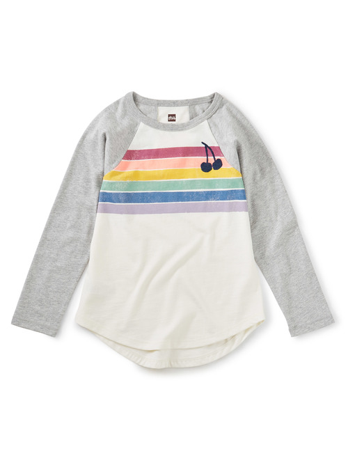 Rainbow Raglan Graphic Tee