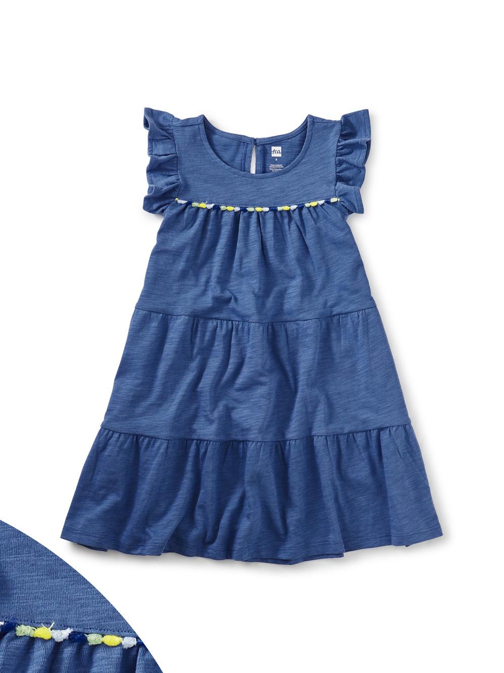 Tassel Trim Tiered Dress