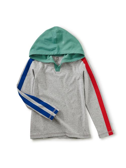 Sleeve Stripe Happy Hoodie