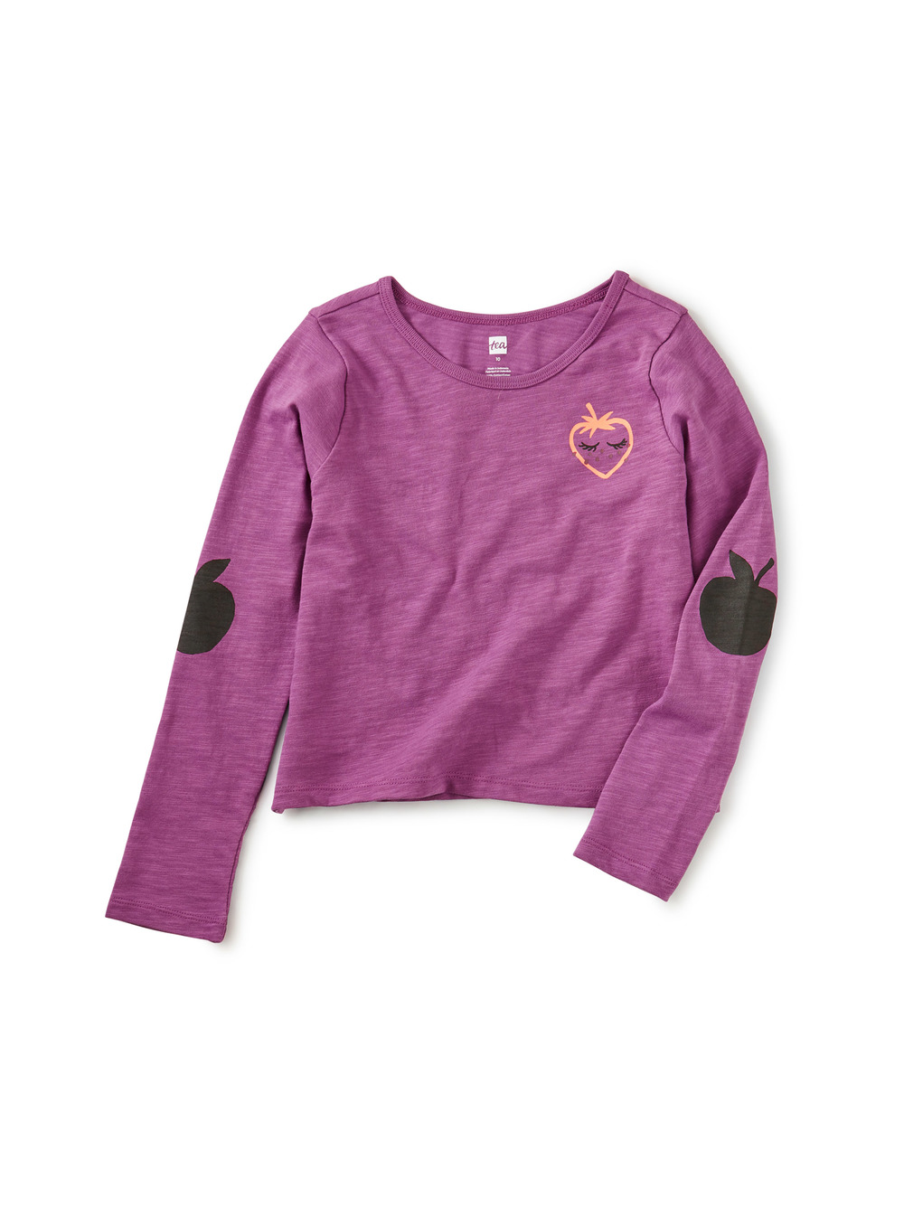 Berry Elbow Patch Tee