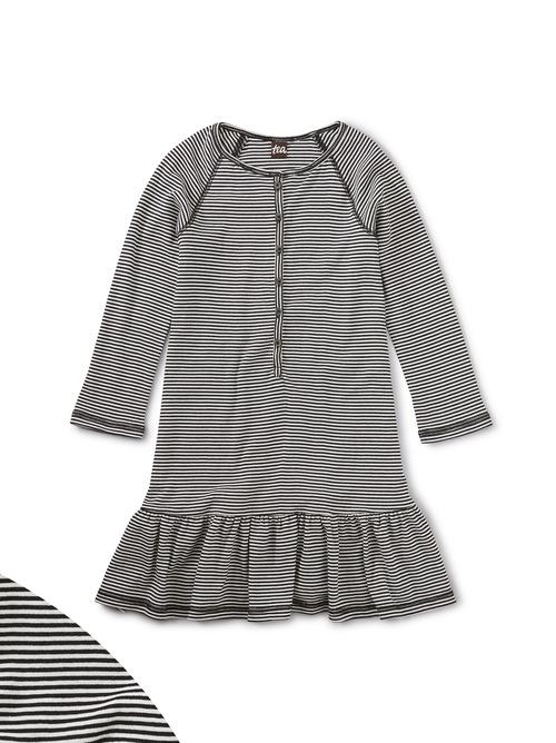 Sparkle Placket Henley Dress
