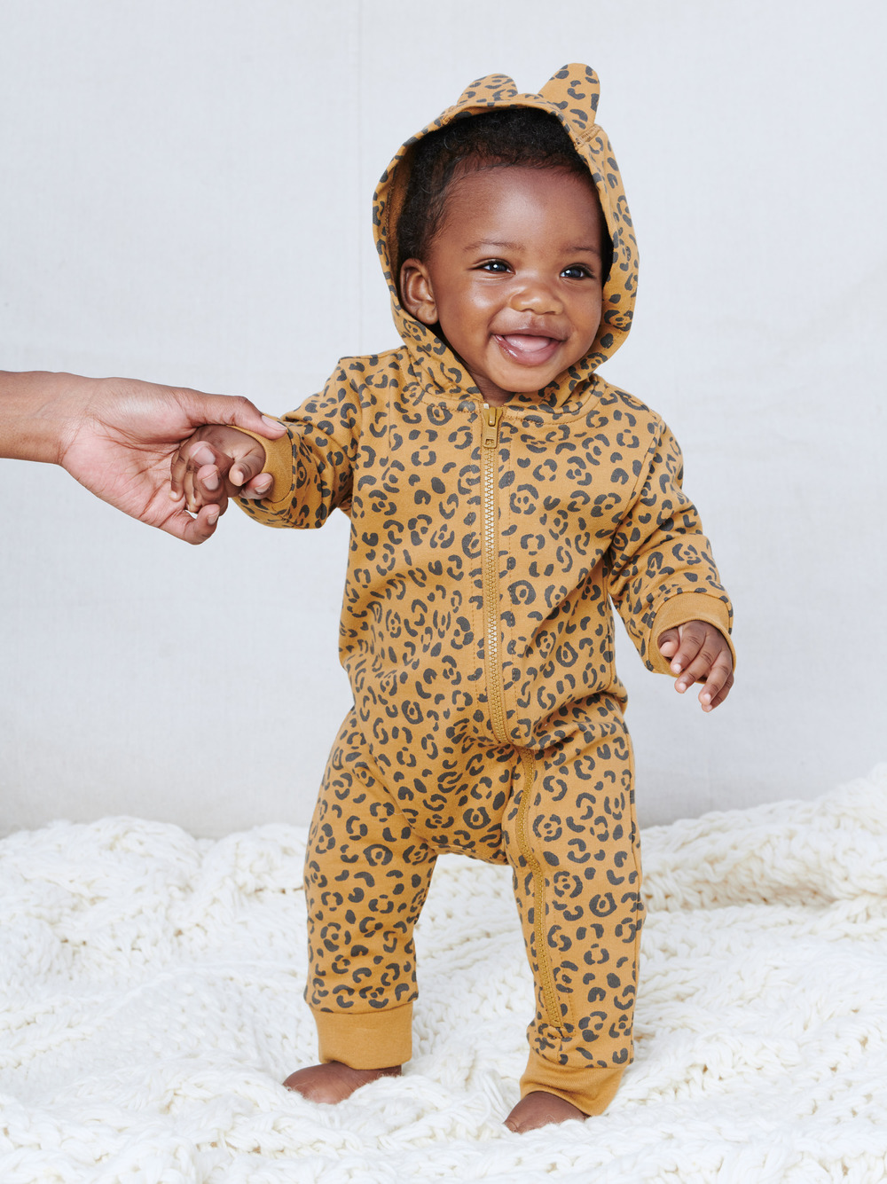 French Terry Hooded Zip Romper