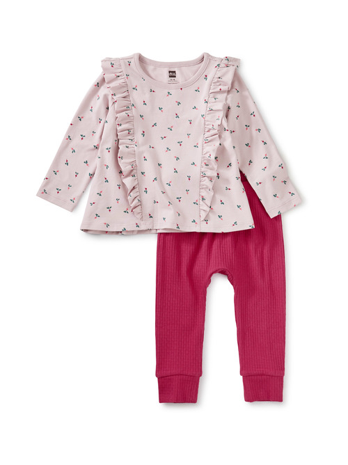 Ruffle Top Baby Set