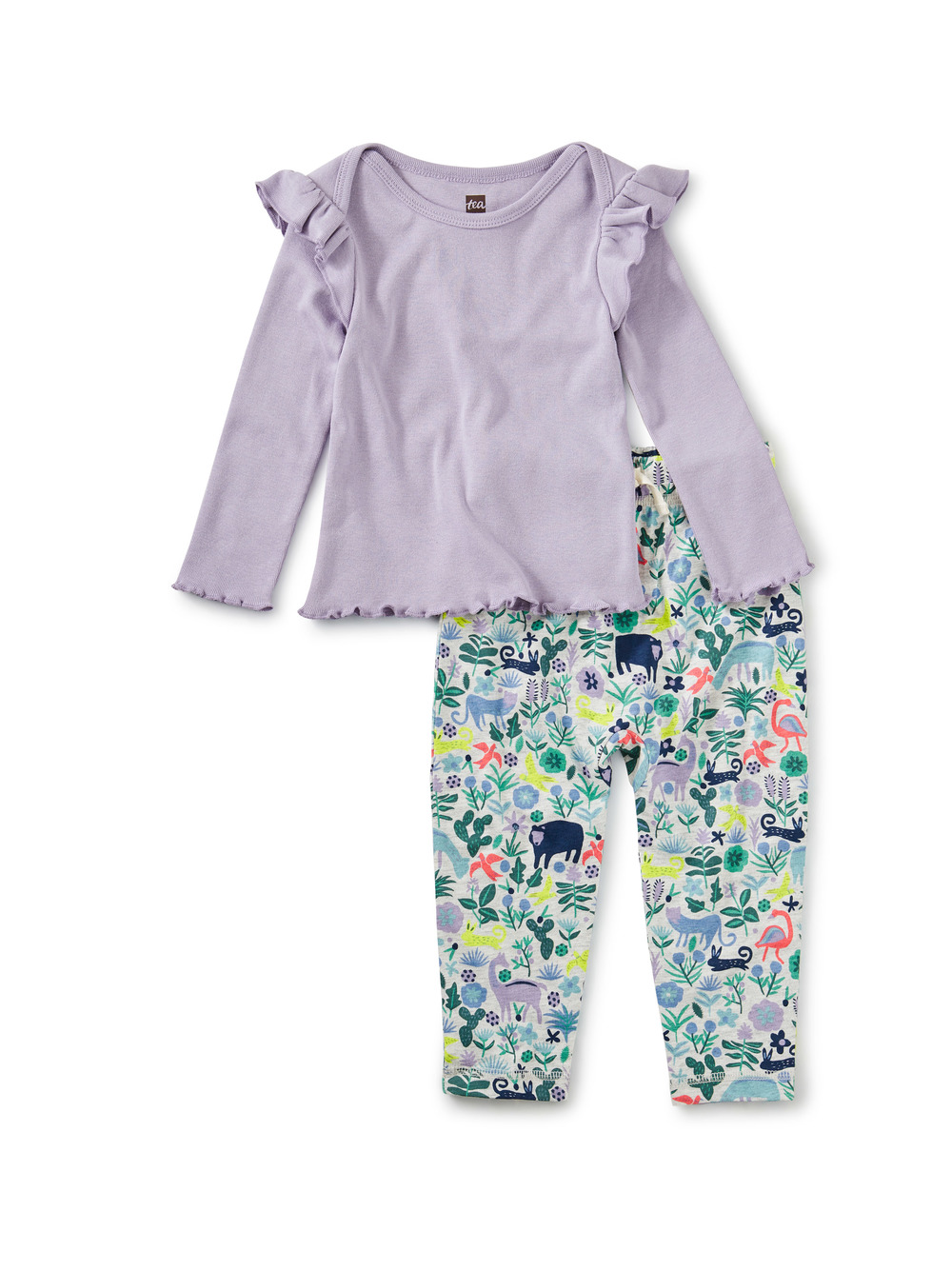 Ruffle Sleeve Baby Set