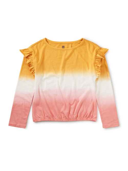 Dip-Dye Ruffle Top