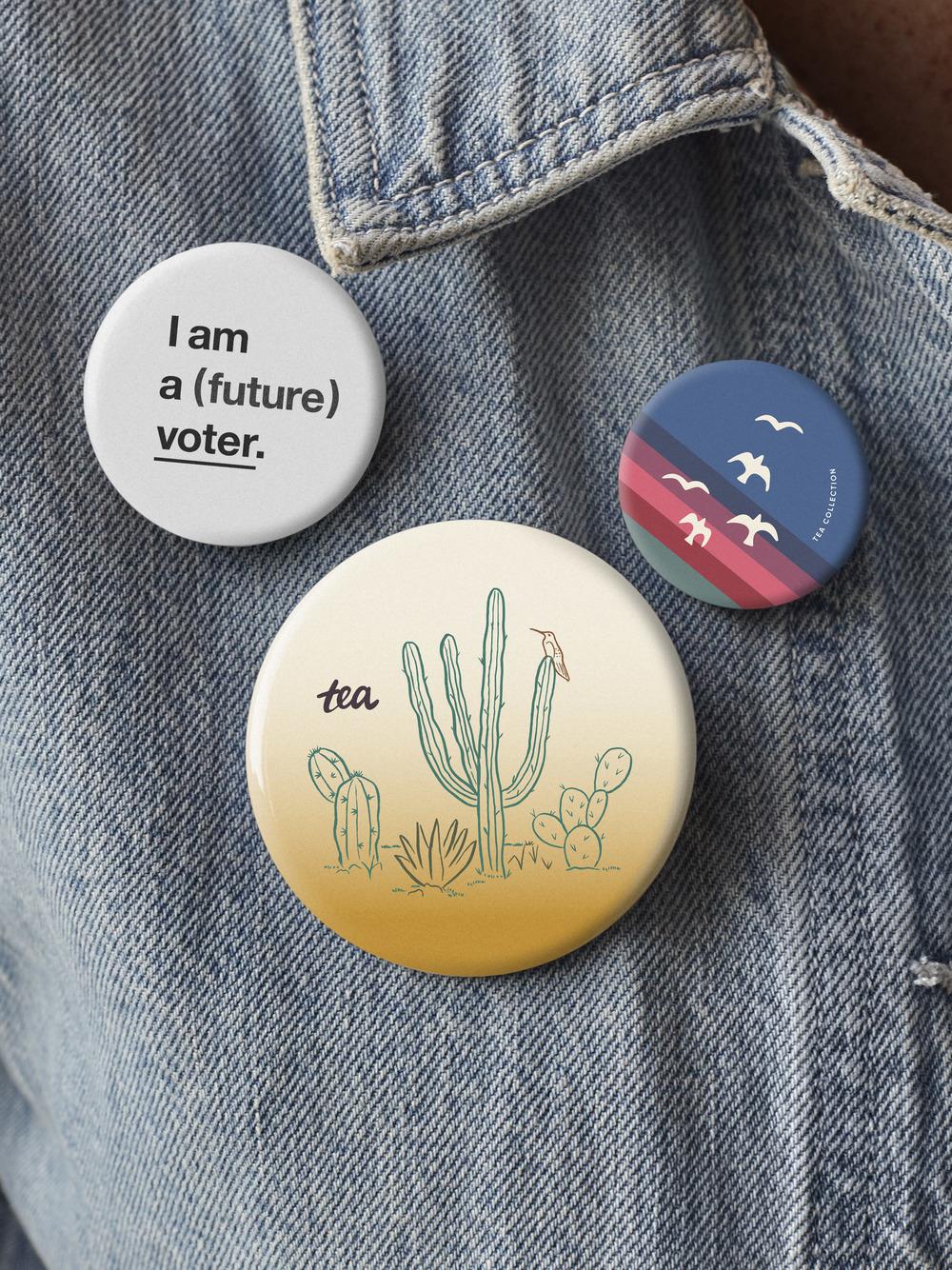 I Am A Voter Button Set