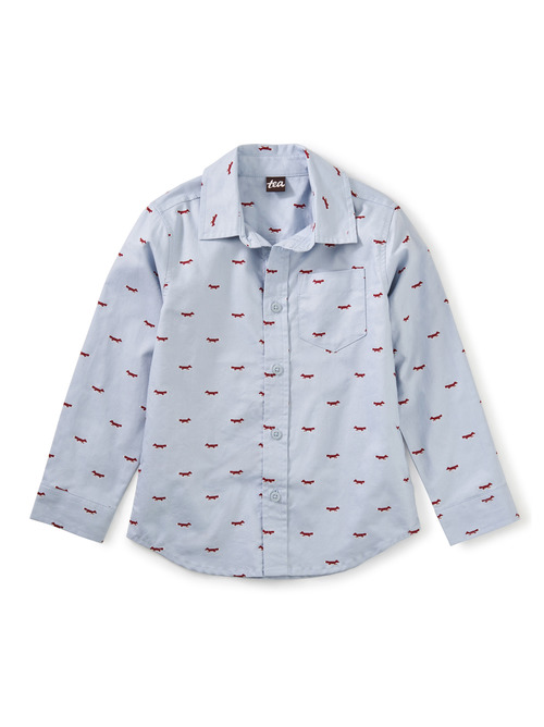Patterned Button Up Shirt