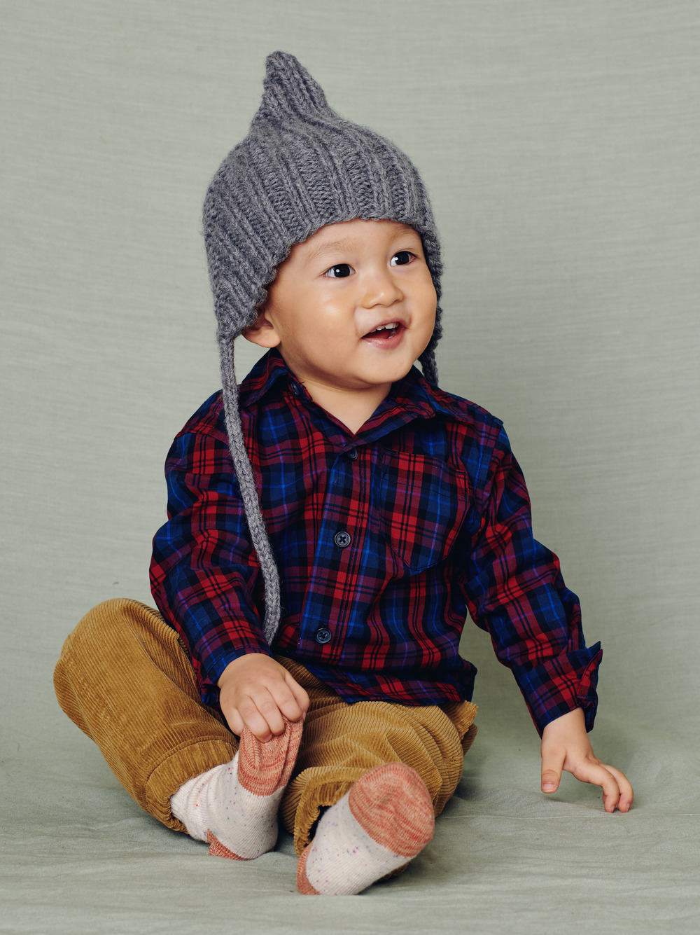 Family Plaid Baby Shirt