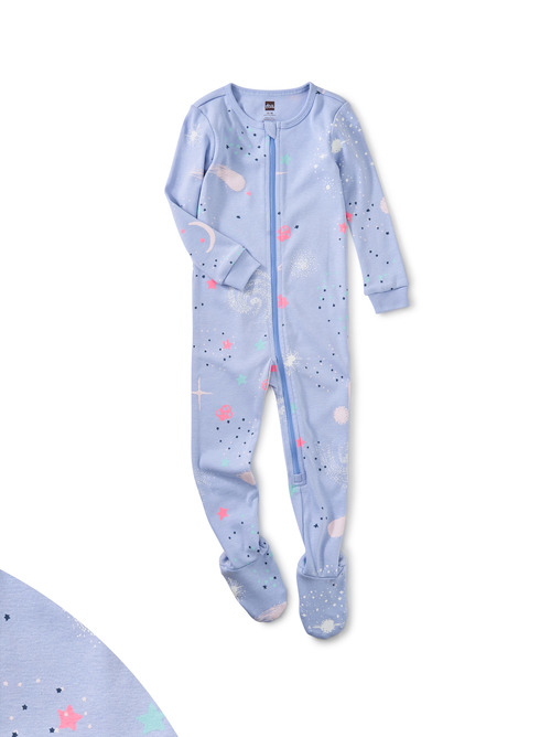Glow Patterned Footed Pajamas