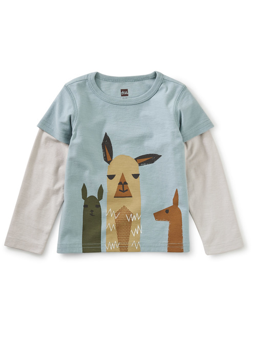 Yo Llama Graphic Layered Graphic Tee