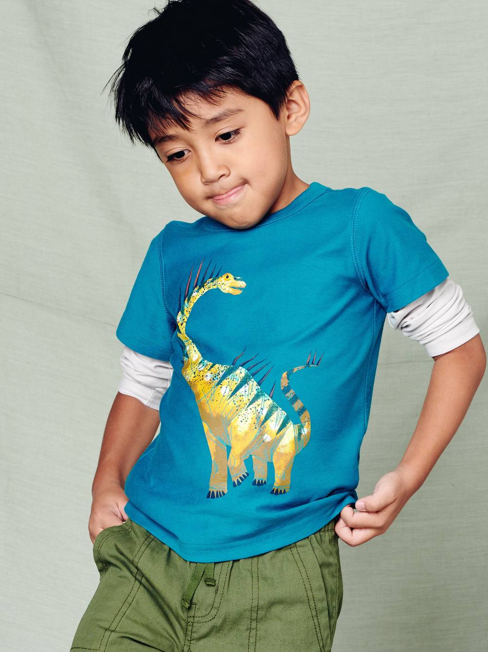 Spiky Dino Layered Graphic Tee