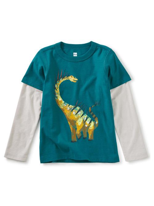 Spiky Dino Layered Graphic Tee