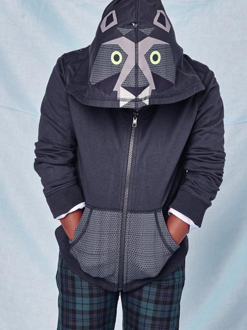 Bear Graphic Zip Hoodie