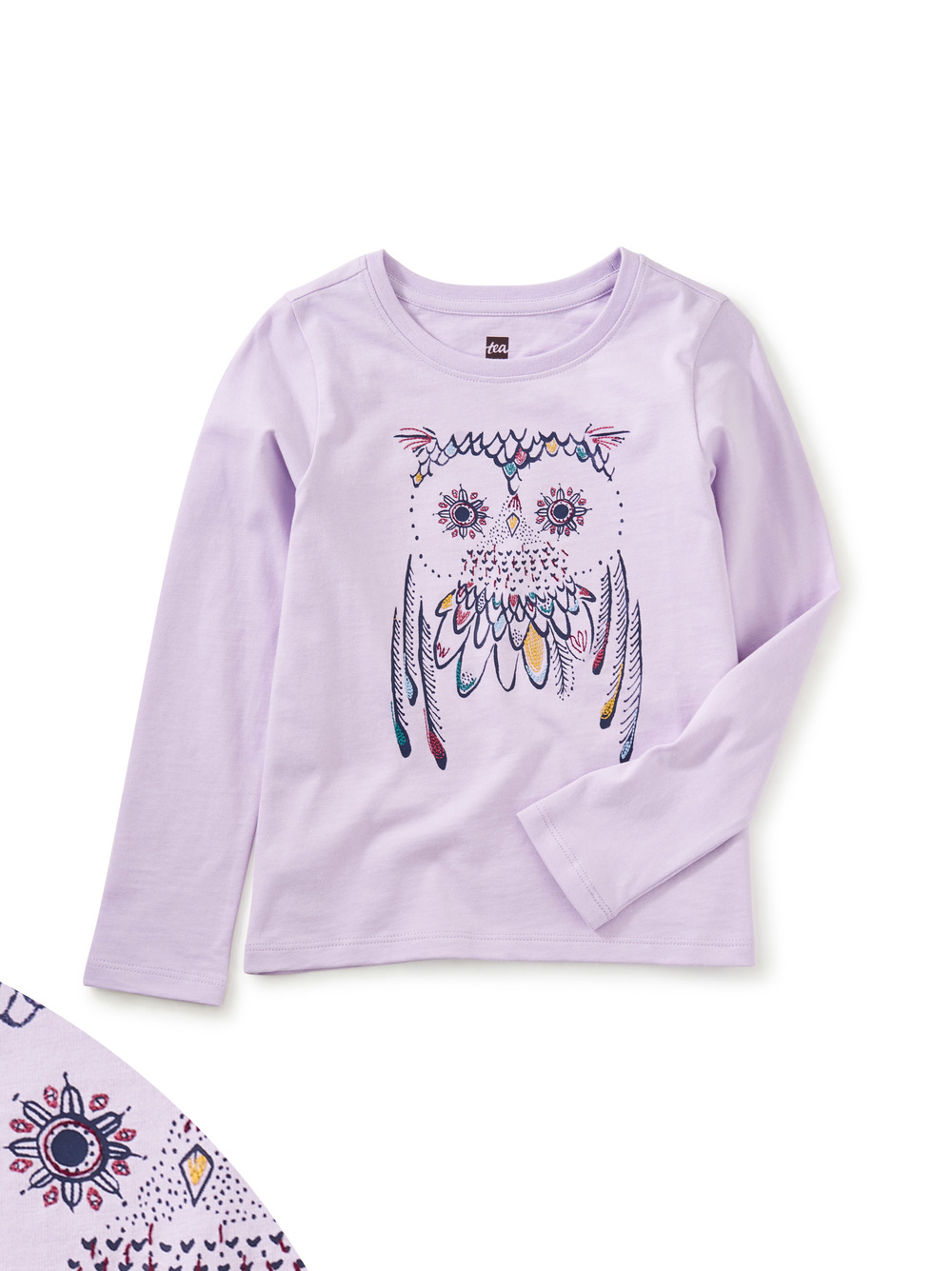 Embroidered Owl Graphic Tee