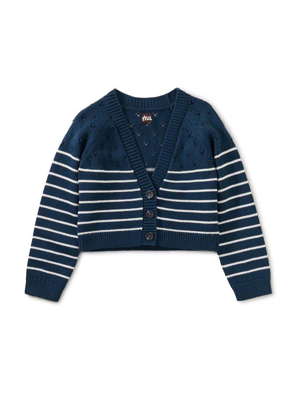 Breton Stripe Pointelle Sweater