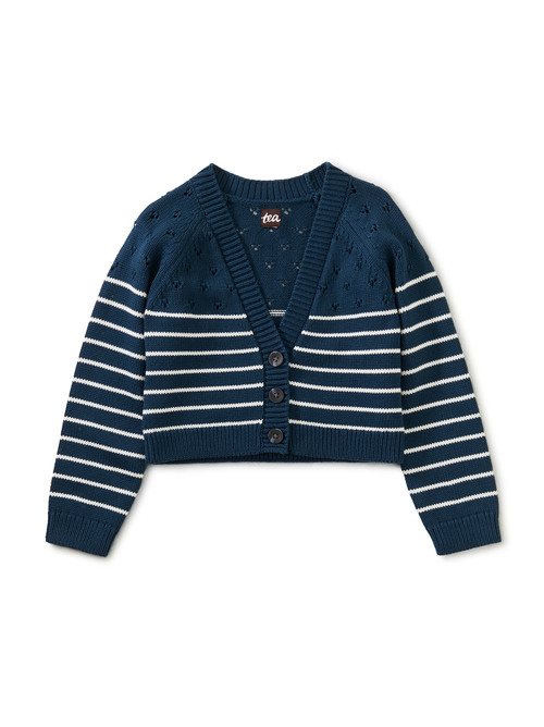 Breton Stripe Pointelle Sweater