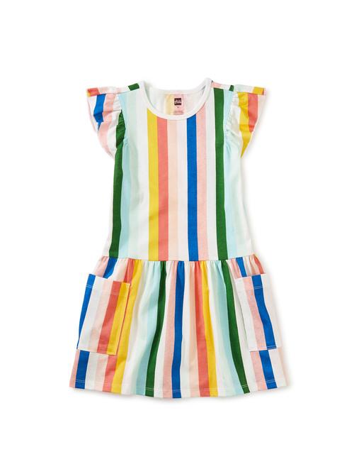 Flutter Sleeve Pocket Dress