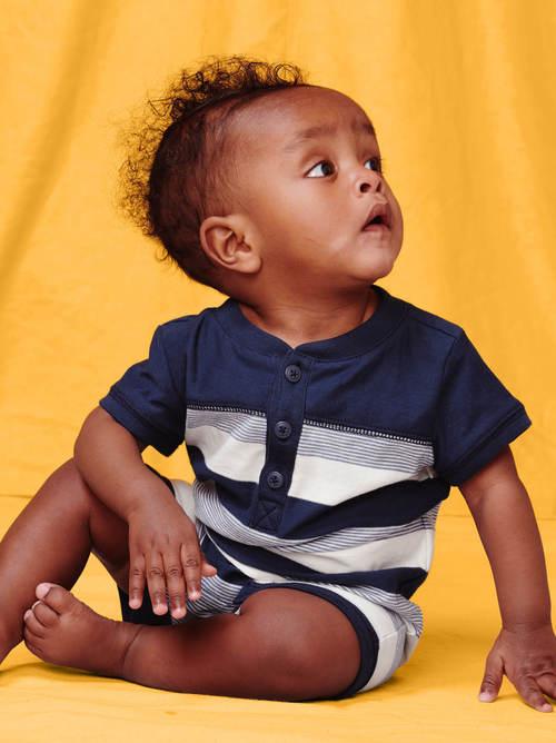 Henley Baby Romper