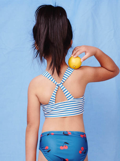 Cross Back Tankini Top