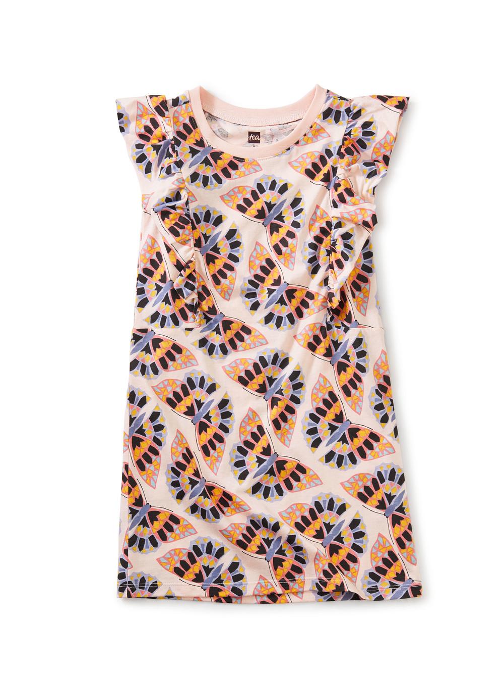 Short Sleeve Ruffle Dress