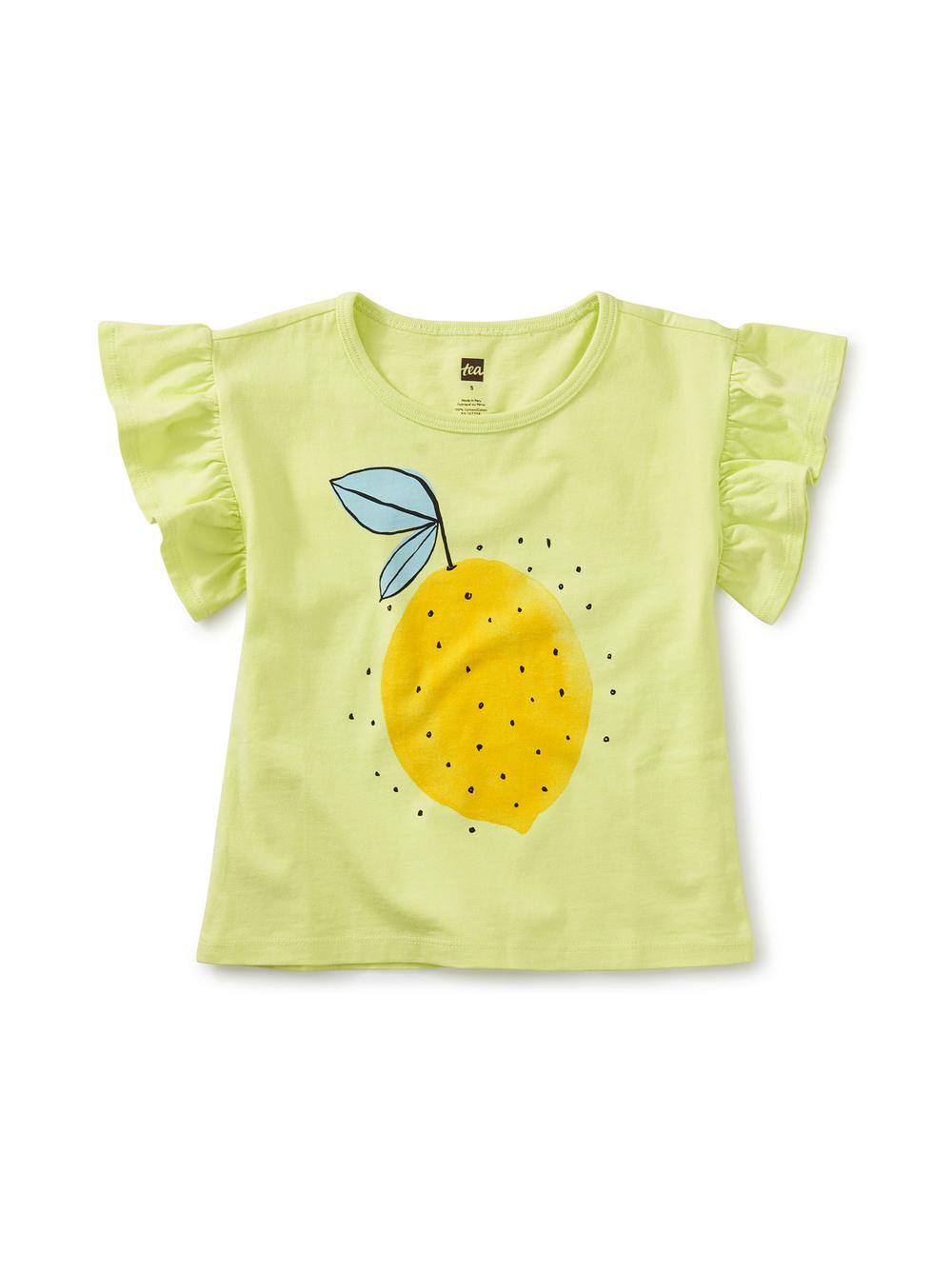 Lemon Fresh Flutter Sleeve Tee