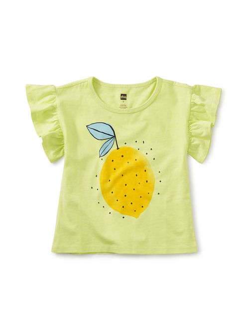 Lemon Fresh Flutter Sleeve Tee