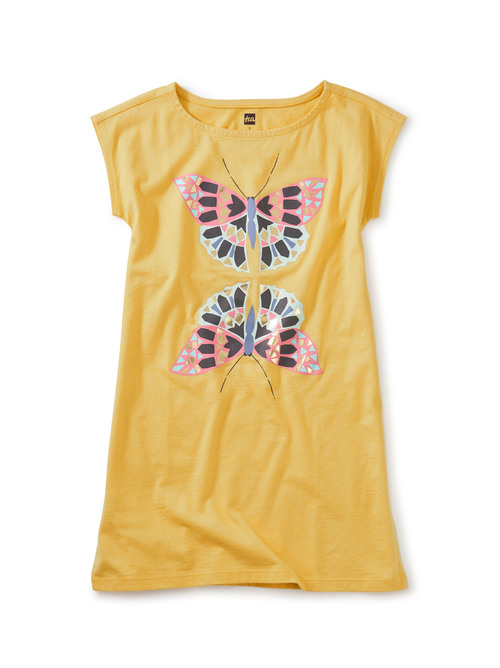 Butterfly Mirror Graphic Dress