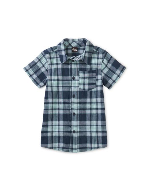 Plaid Button Up Woven Shirt