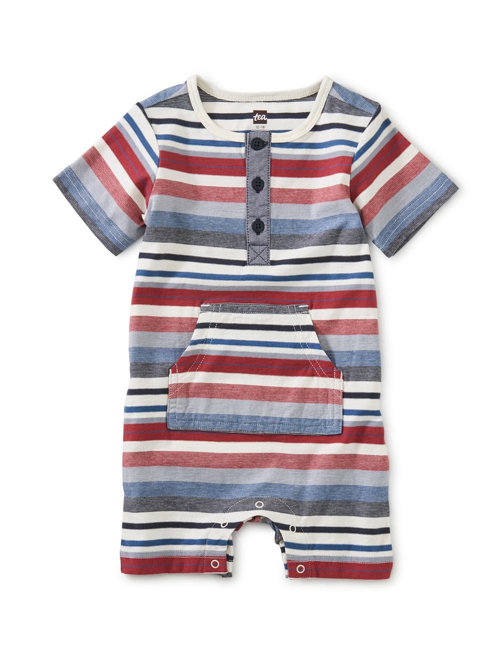 Henley Pocket Baby Romper