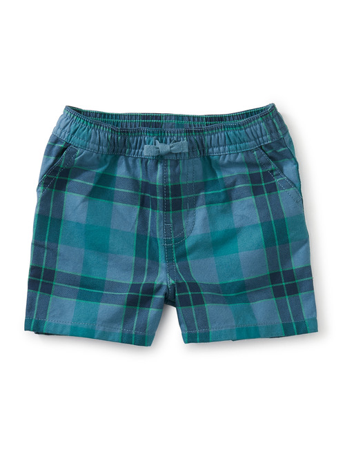 Plaid Discovery Baby Shorts