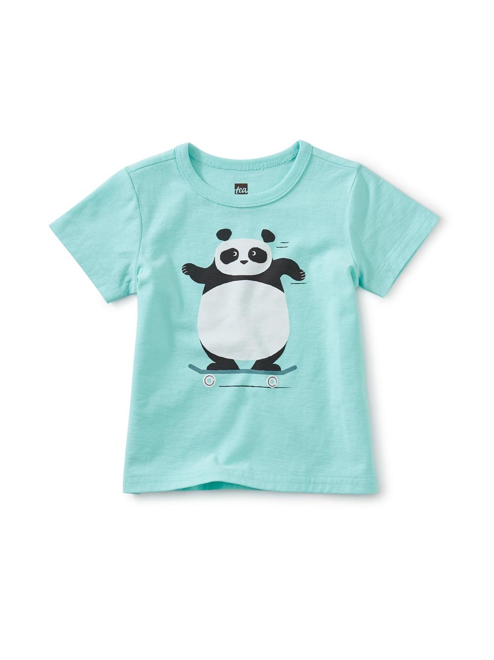Skating Panda Graphic Tee