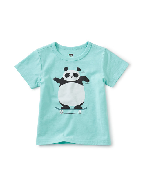 Skating Panda Graphic Tee