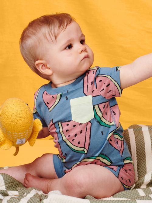 Pop Pocket Shortie Baby Romper