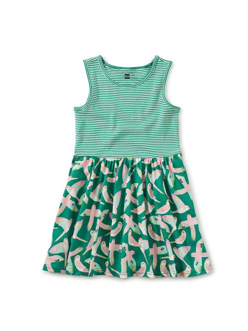 Print Mix Skirted Dress