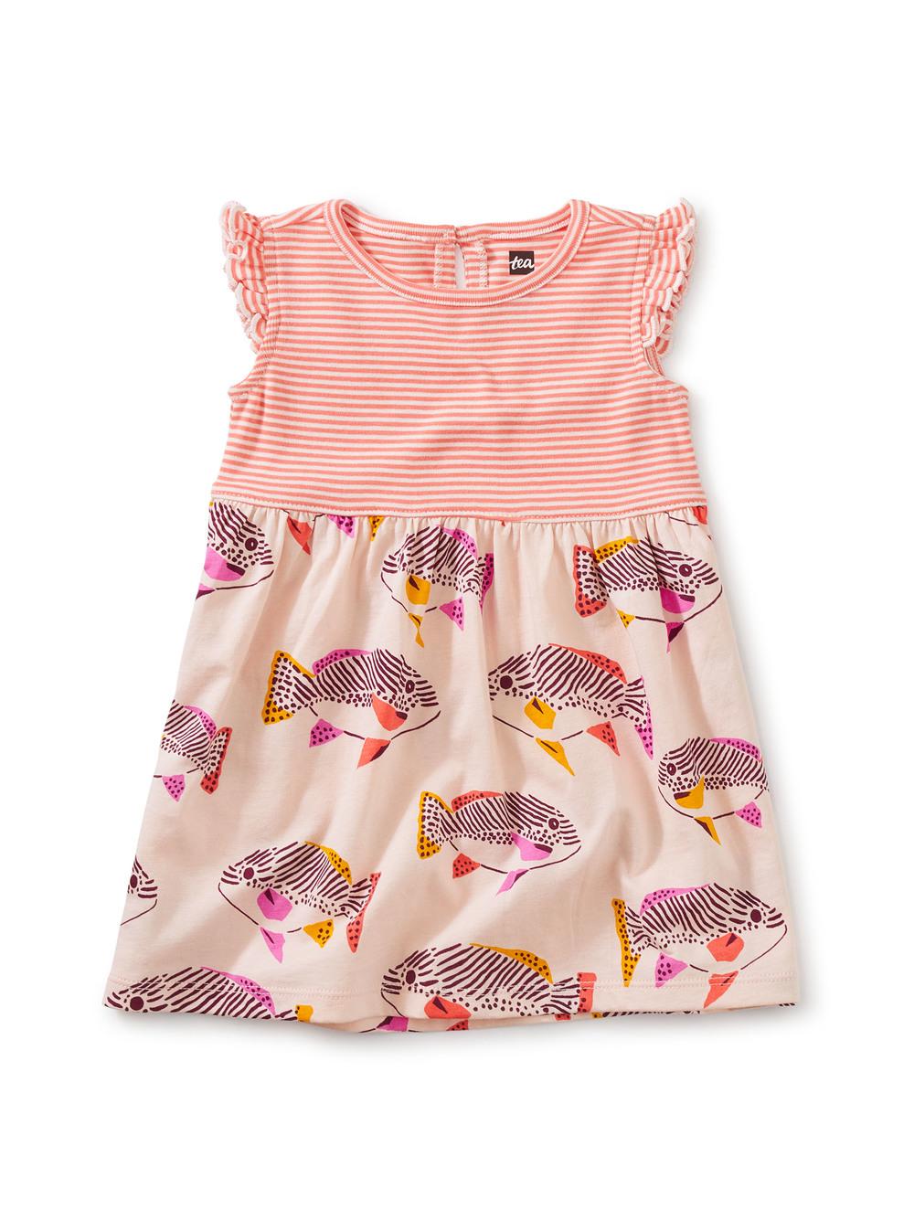 Print Mix Ruffle Baby Dress