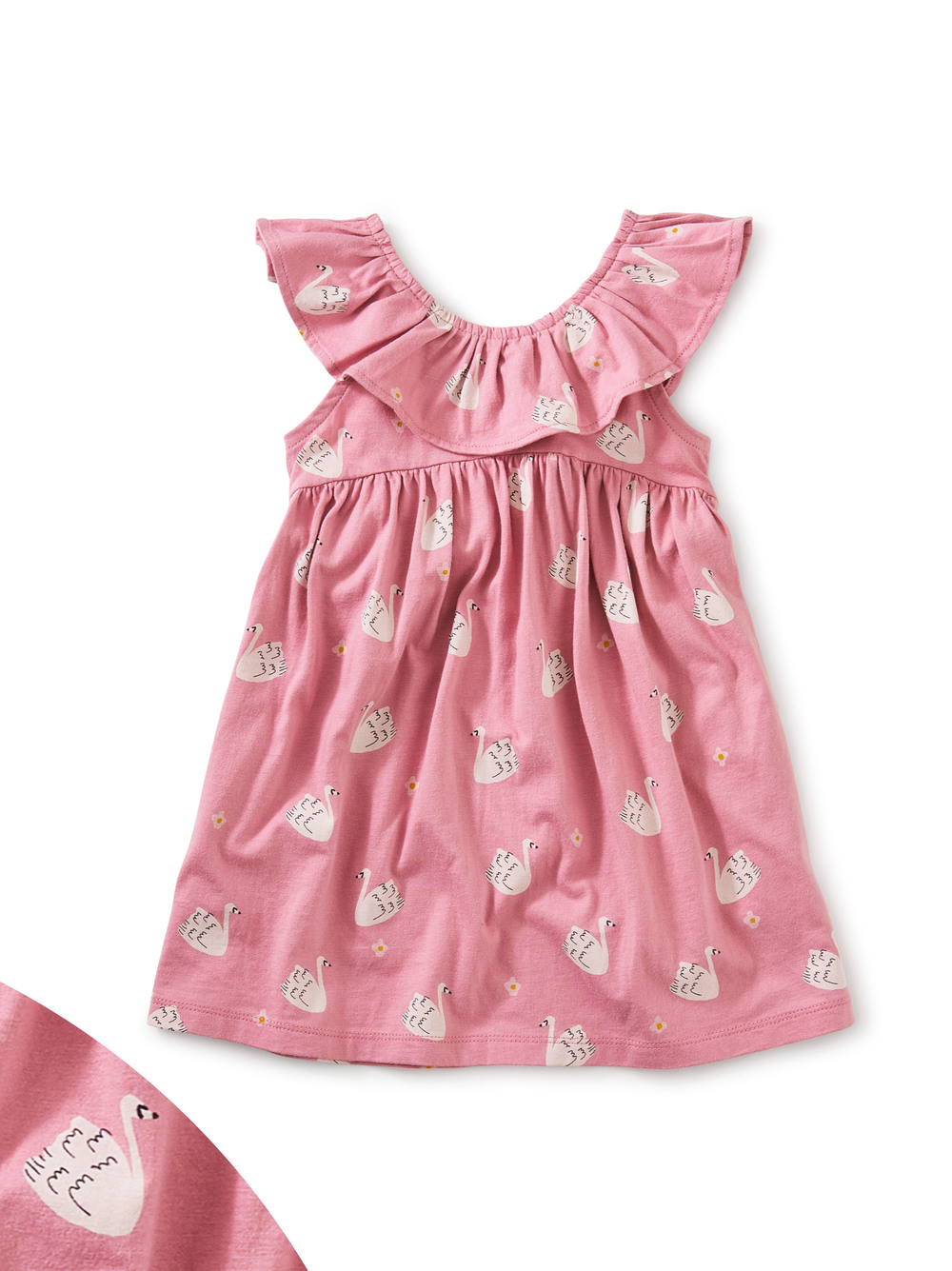 Ruffle Neck Baby Dress