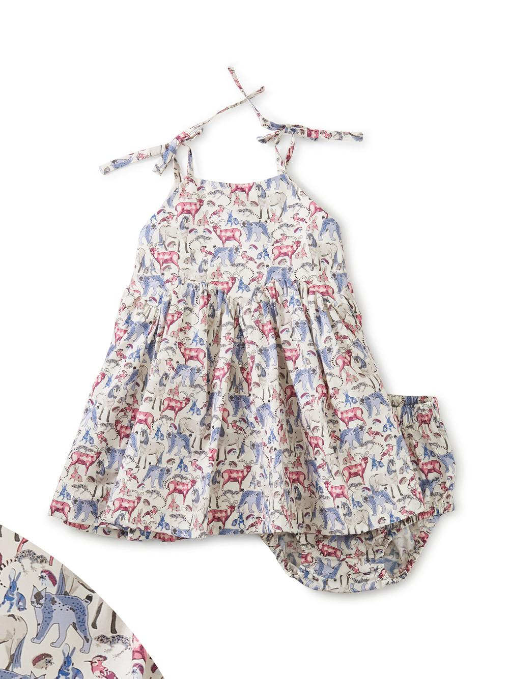 Tie Shoulder Baby Dress Set