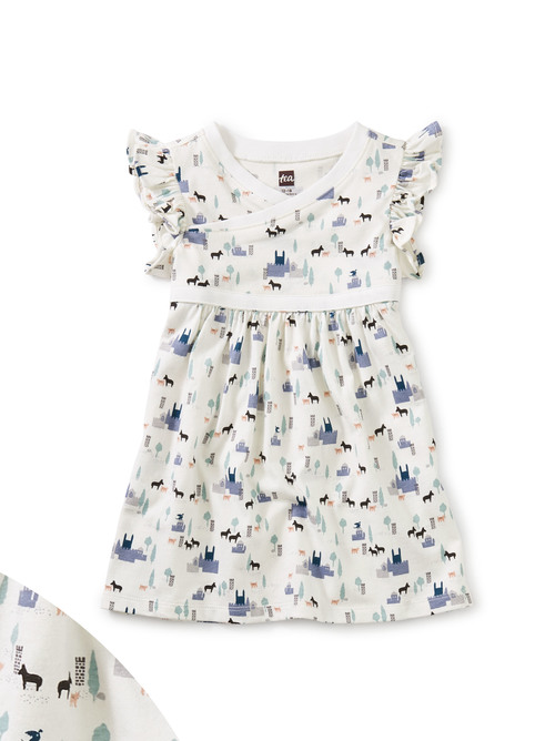 Wrap Neck Baby Dress