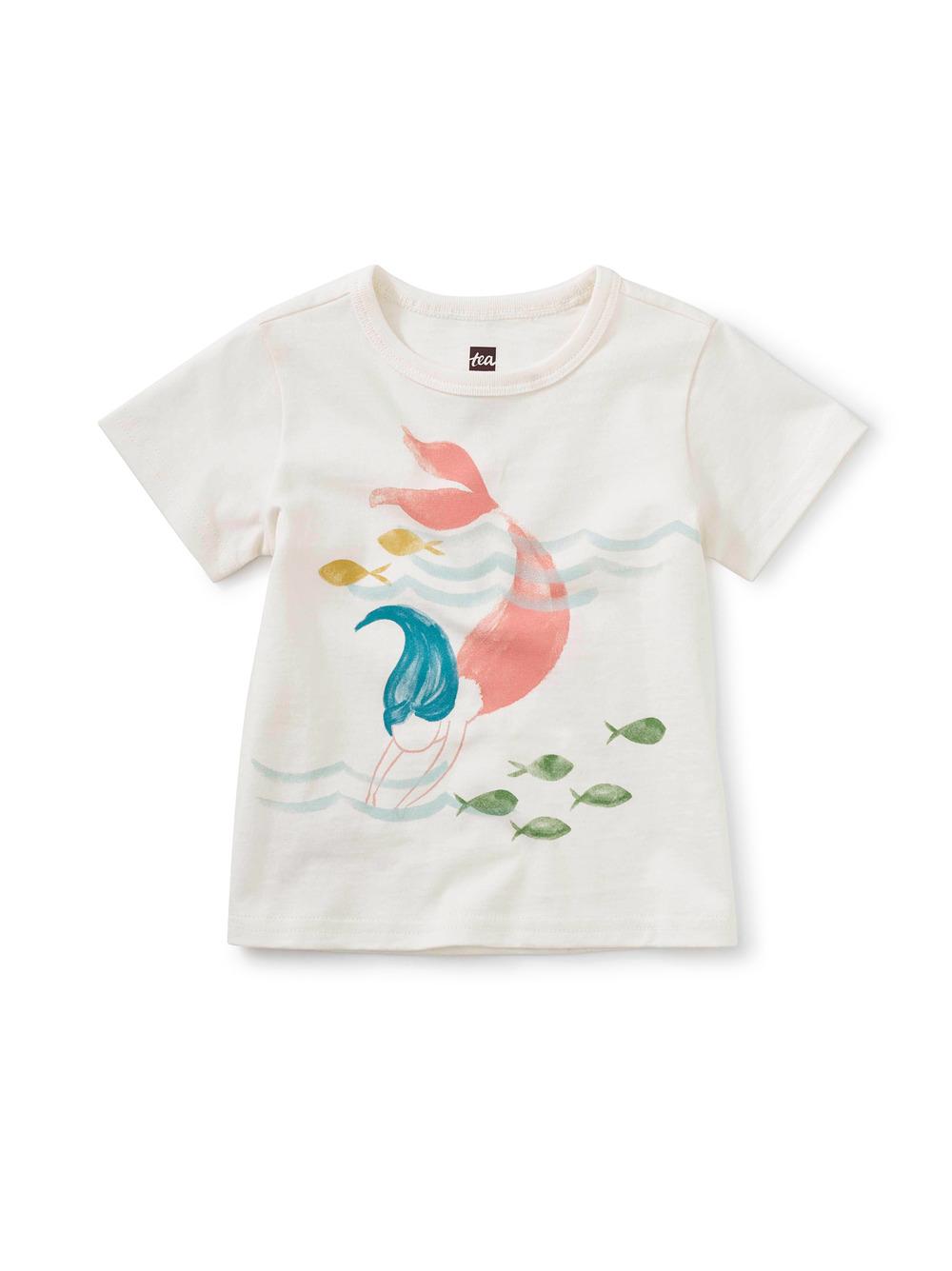 Diving Mermaid Baby Graphic Tee