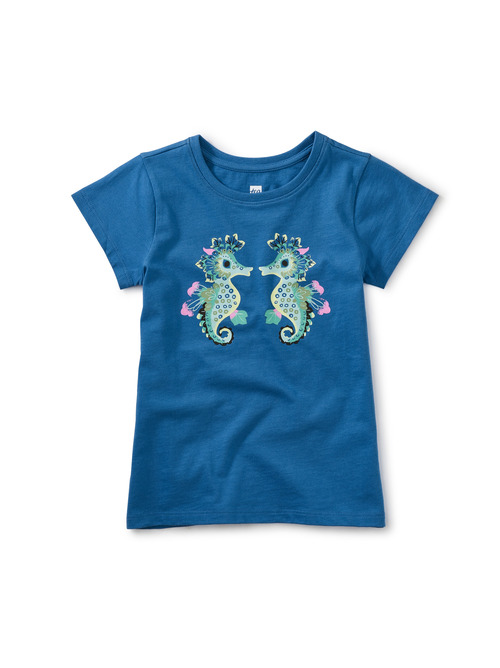 Seahorse Play Graphic Tee