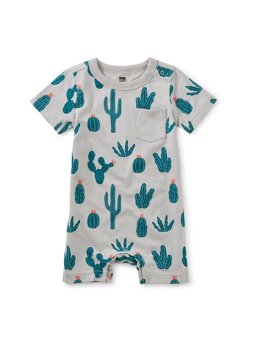 Rib Pocket Shortie Baby Romper