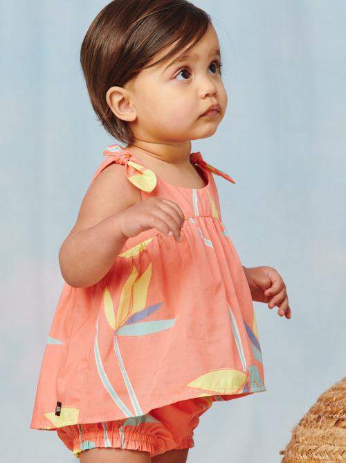 Tie Shoulder Baby Set