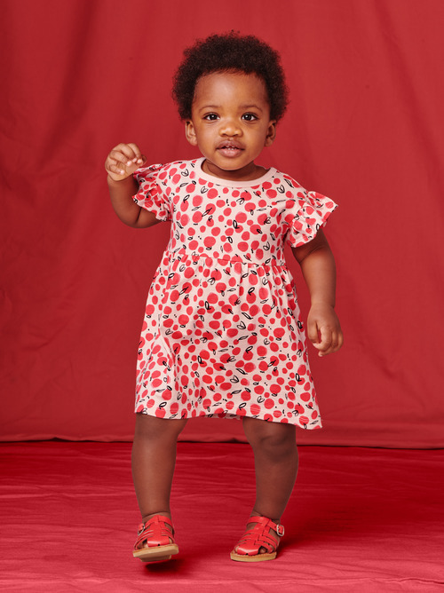 Ruffle Sleeve Baby Dress